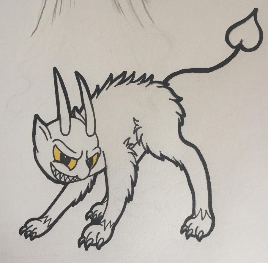 Inktober Day #10 ~ The Devil by Blumydia