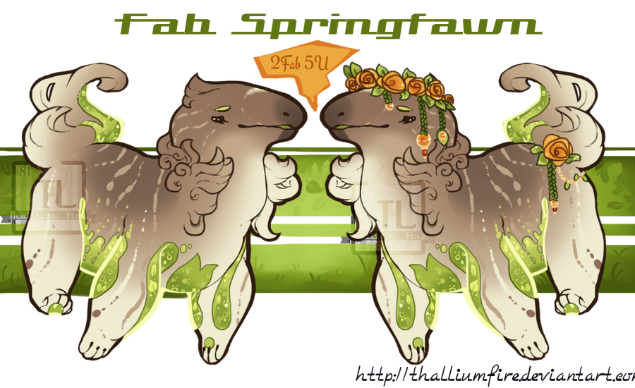 FAAAAB Springfawn ( Glubcup Auction closed) by Thalliumfire