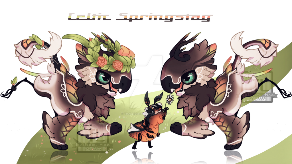 Celtic Spring Stag (JR special-Auction,closed!) by Thalliumfire