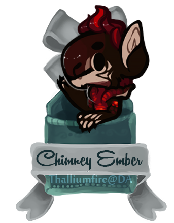 December 3 - Chiimney Ember FXT (teaser chibi) by Thalliumfire