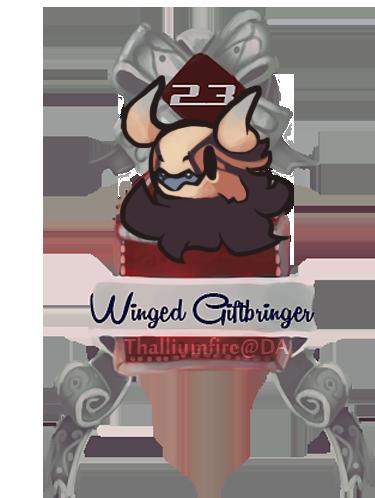 December 23 - Winged Giftbringer JR (teaser Chibi) by Thalliumfire