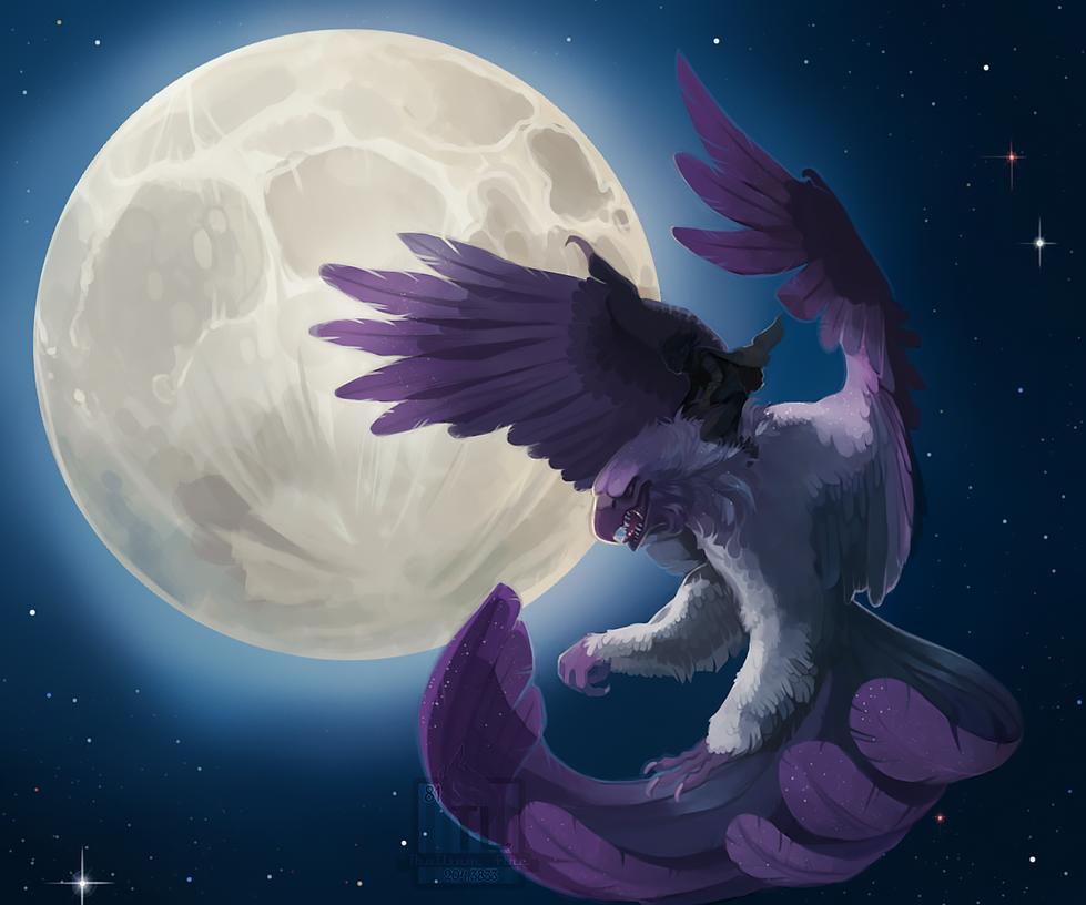 Greeting The Moon. by Thalliumfire