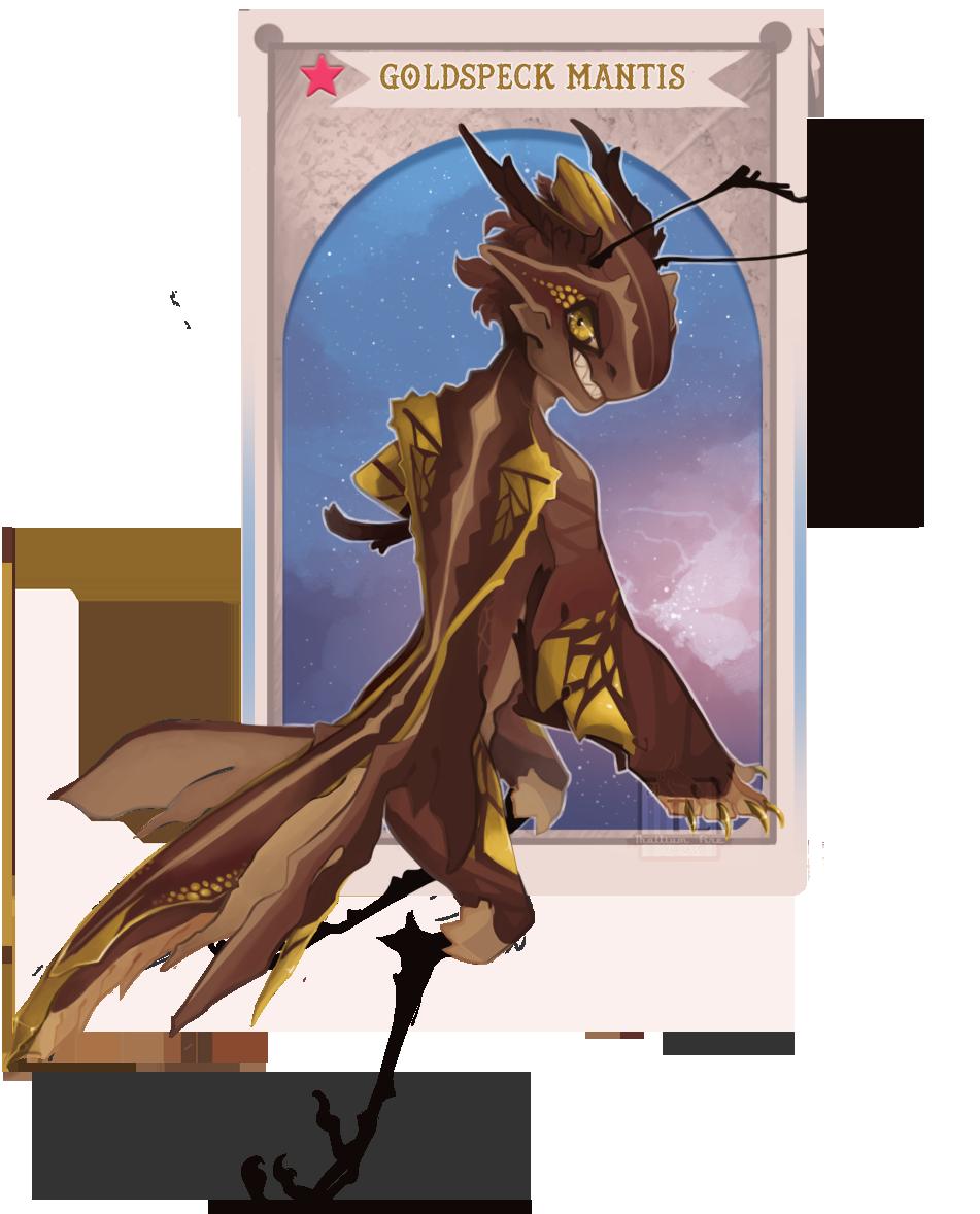 Goldspeck Mantis by Thalliumfire