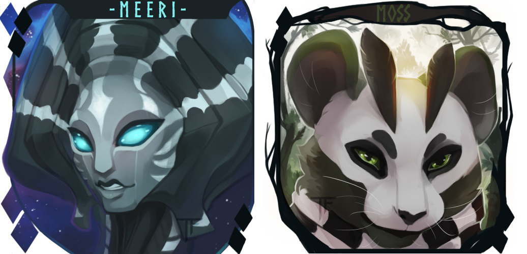Meeri and Moss Icons (C) by Thalliumfire