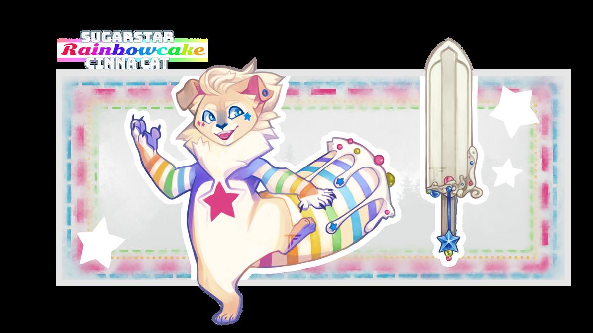 Sugarstar Rainbowcake. (CinnaCat OTA, open)