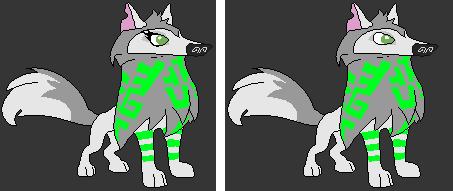 Animal Jam Base Arctic Wolves 2nd pattern by SilverNight108