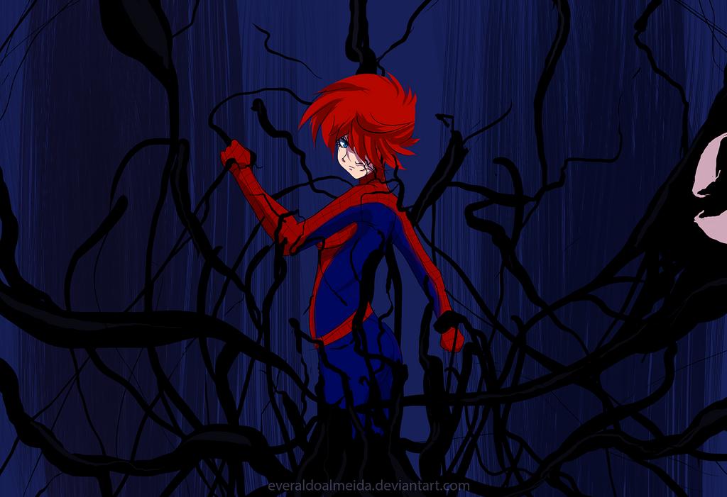 Spidergirl - Venom Power Up by everaldoalmeida