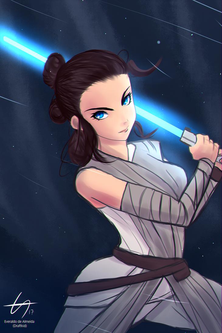 Rey - Star Wars by draftkid