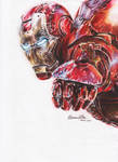 IronMan by roxaoleen - pencils on paper