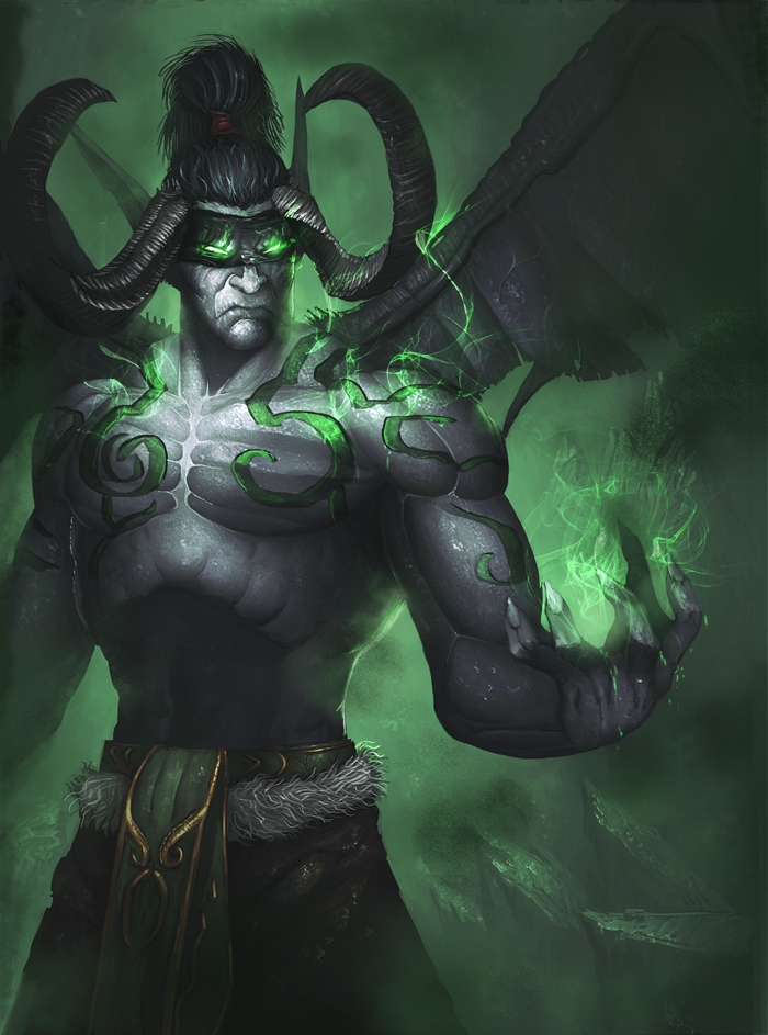 Illidan Stormrage by davebrush