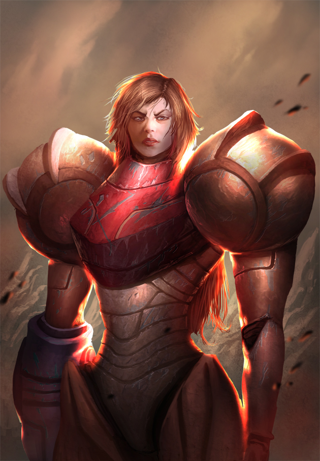 Samus Aran by davebrush