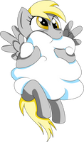 Derpy Eating A Cloud by Bronytoss