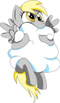 Derpy Eating A Cloud