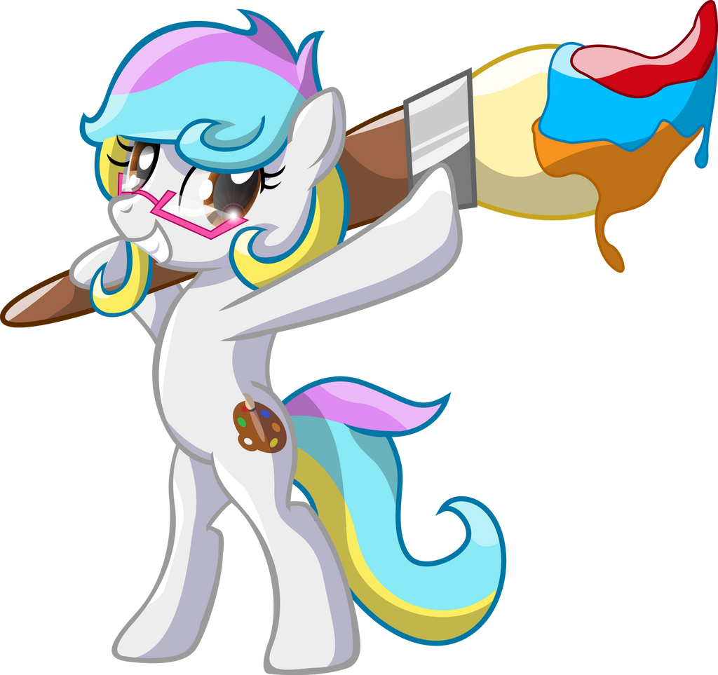 *Request*Rainbow Paintbrush by Bronytoss