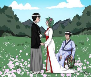 Commission - LeeHaru Wedding by JoTehDemonicPickle