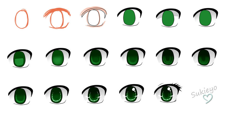 Step By Anime Eyes Sukieyo