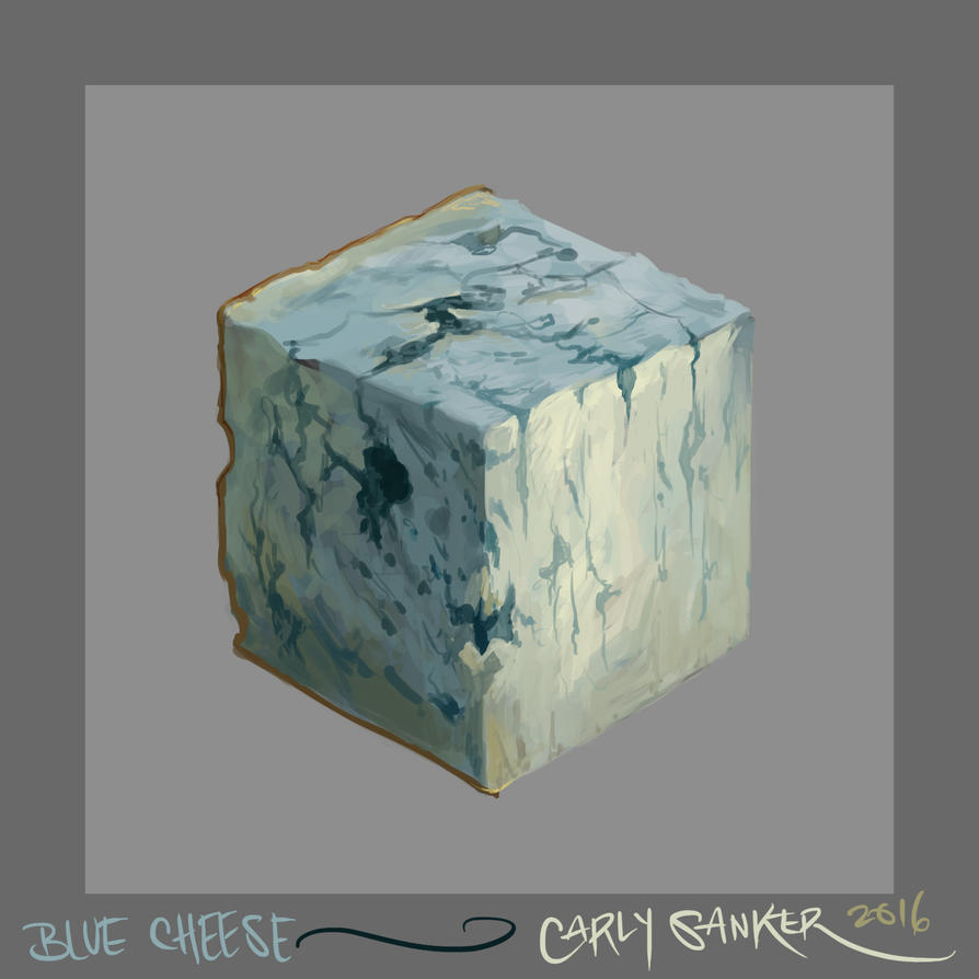 Texture Study ~ Blue Cheese by CarlySanker