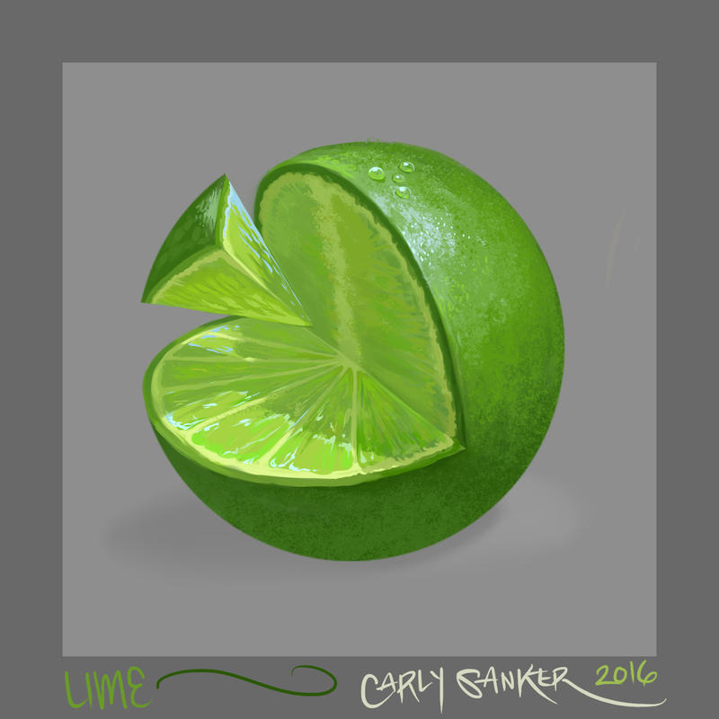 Texture Study ~ Lime by CarlySanker
