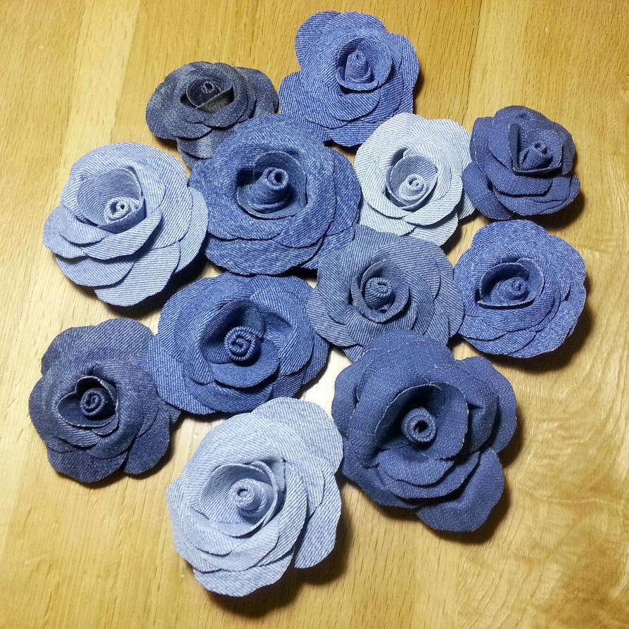 A Dozen Denim Roses by Wabbit-t3h