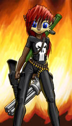 Punisher Sally by Joan-Michele by sally-acorn-fans