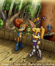 Sally and Bunnie by sally-acorn-fans