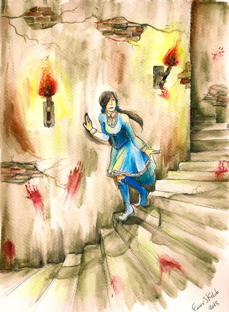 Ann-ju watercolor by FmsFoinix