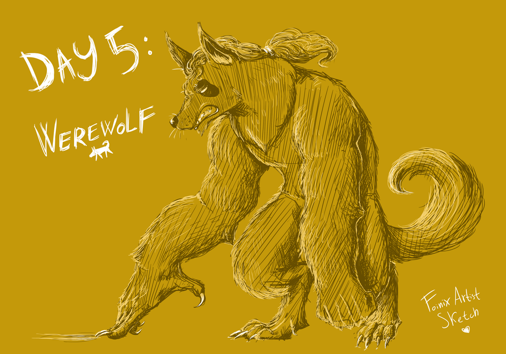 Day 5: Werewolf - Halloween Contest by FmsFoinix