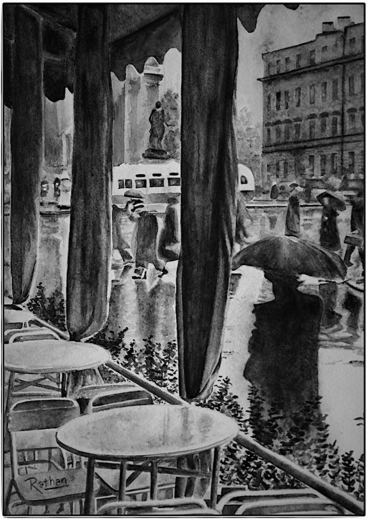 Rain in Leningrad, 1960 by akrathan