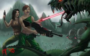 Sci fi battle by atdoodle