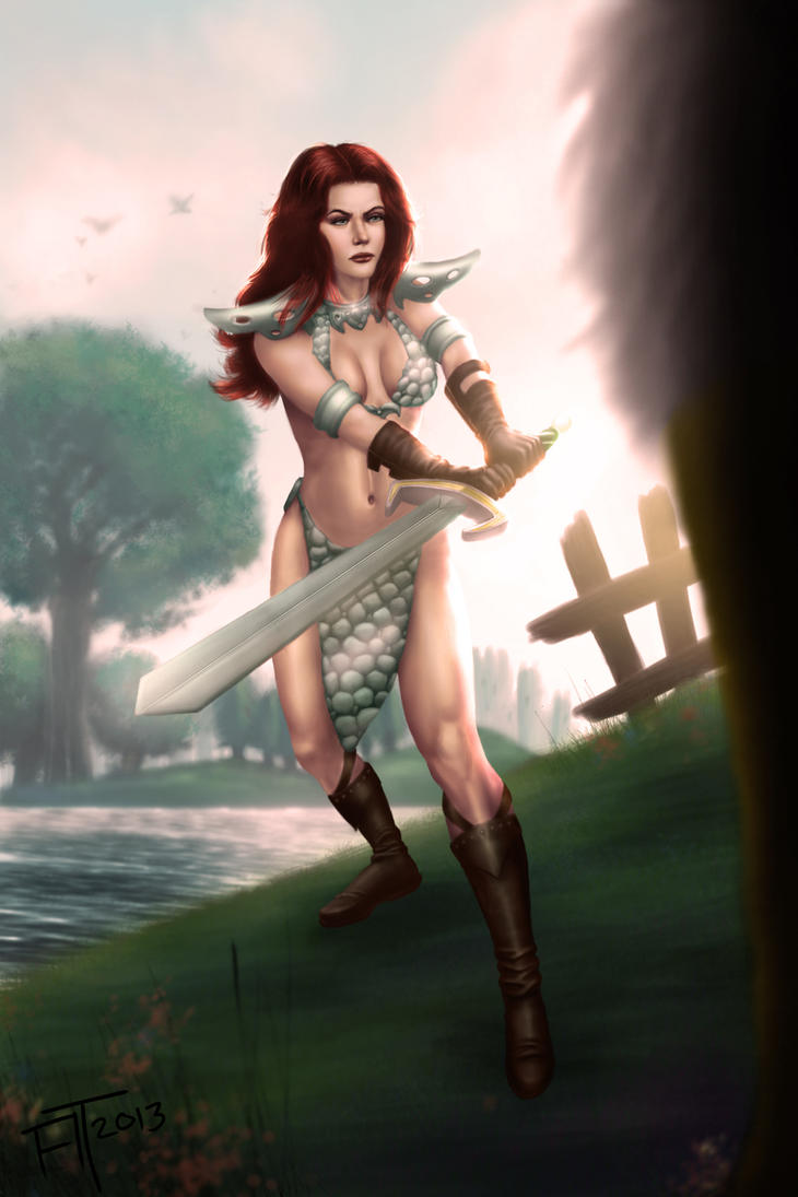 Red Sonja by atdoodle