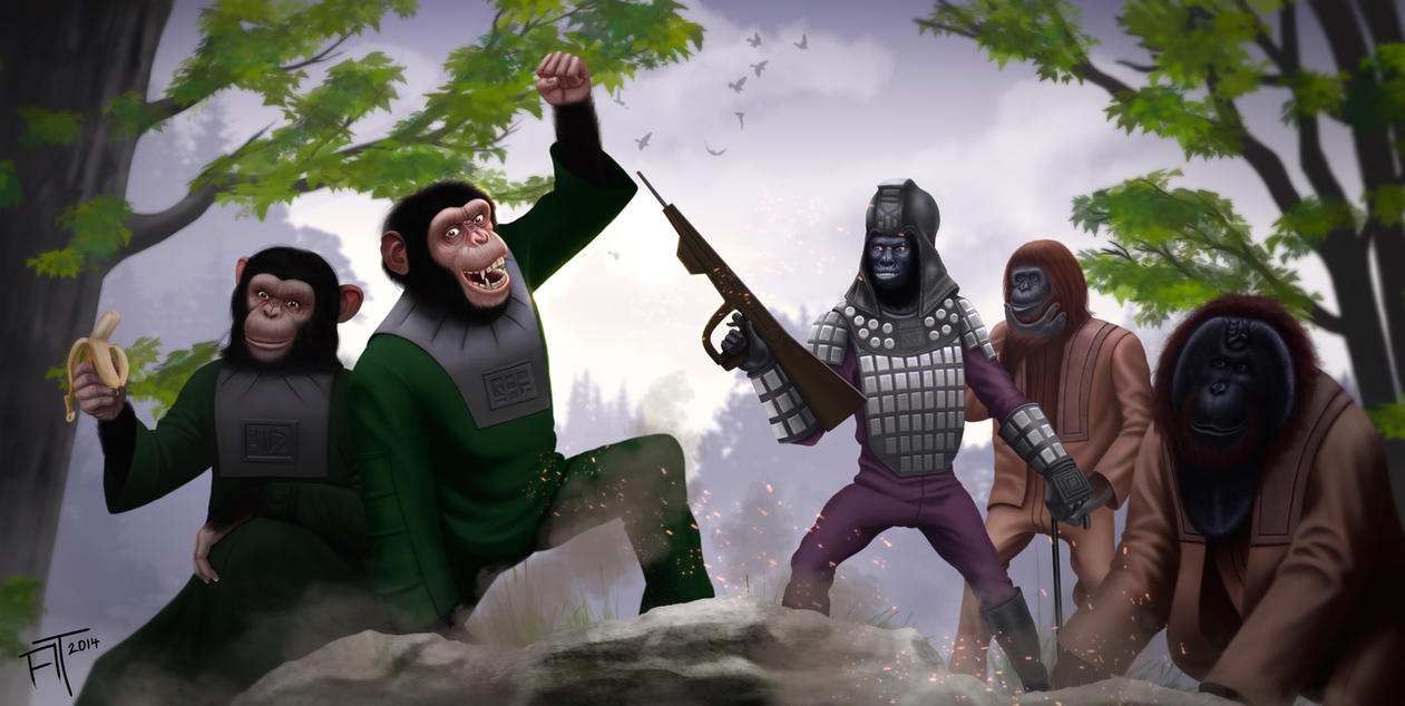 Planet of the apes by atdoodle