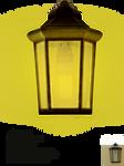 Burning wall lamp