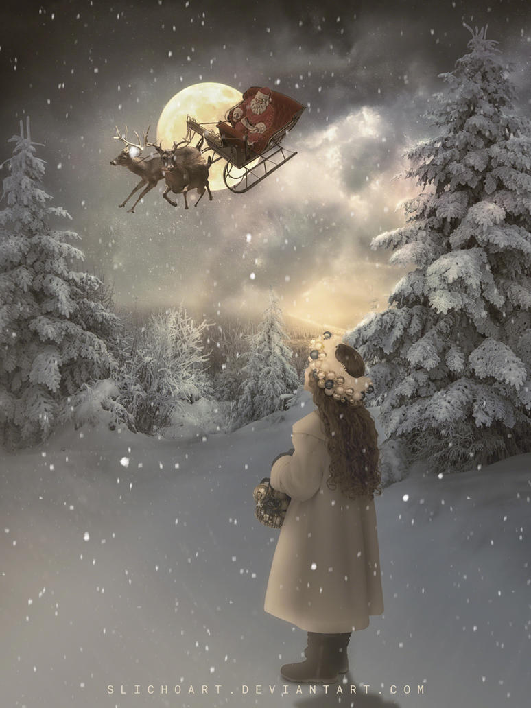 Santaclaus is coming to town by SlichoArt