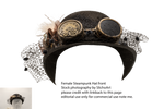 Female Steampunk Hat Front - Stock
