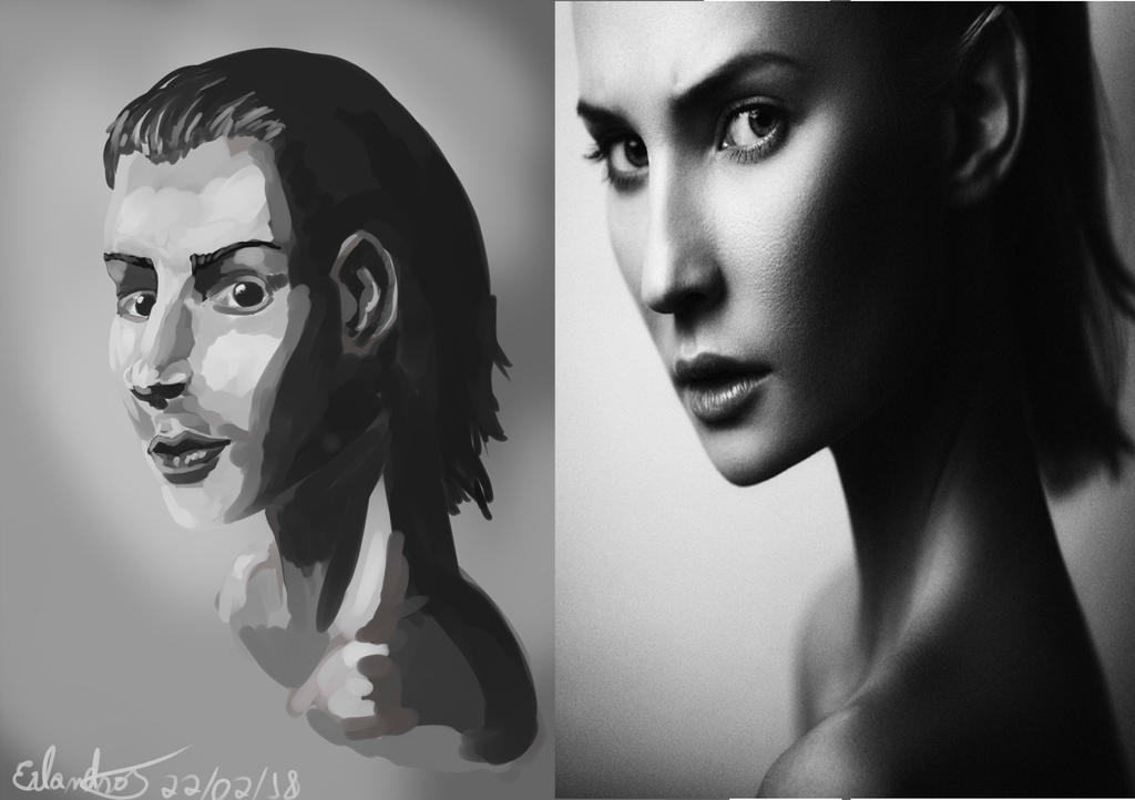 girl in gray scale #2 day by Erlanderson