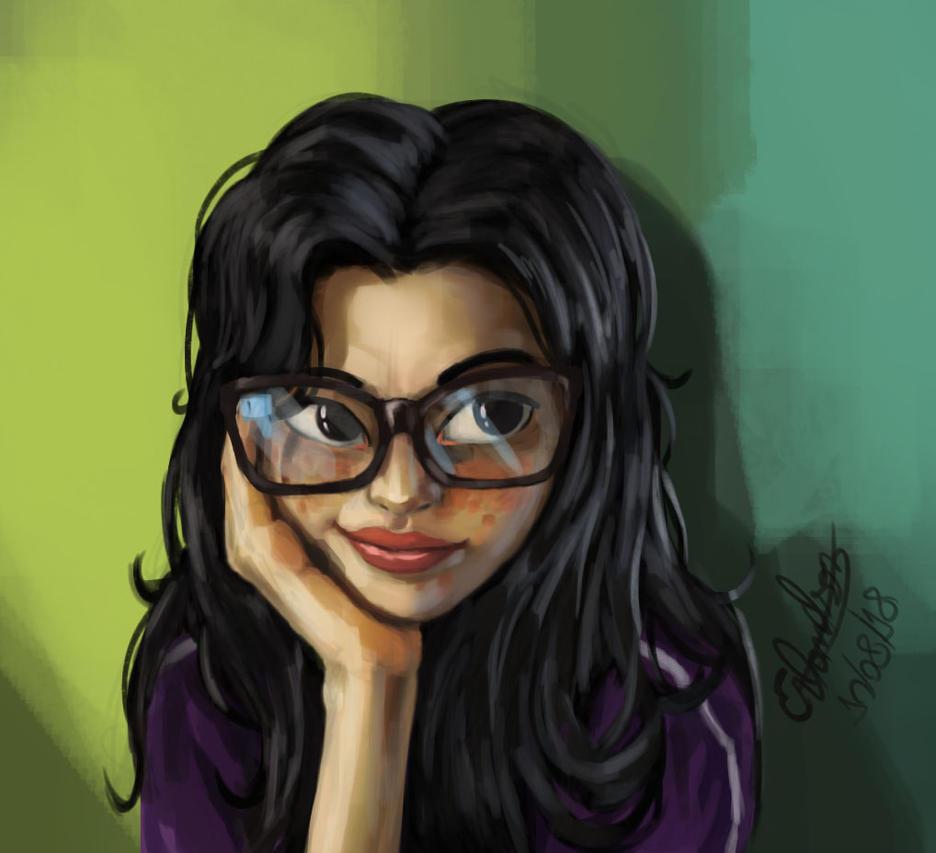 My sister's portrait by Erlanderson