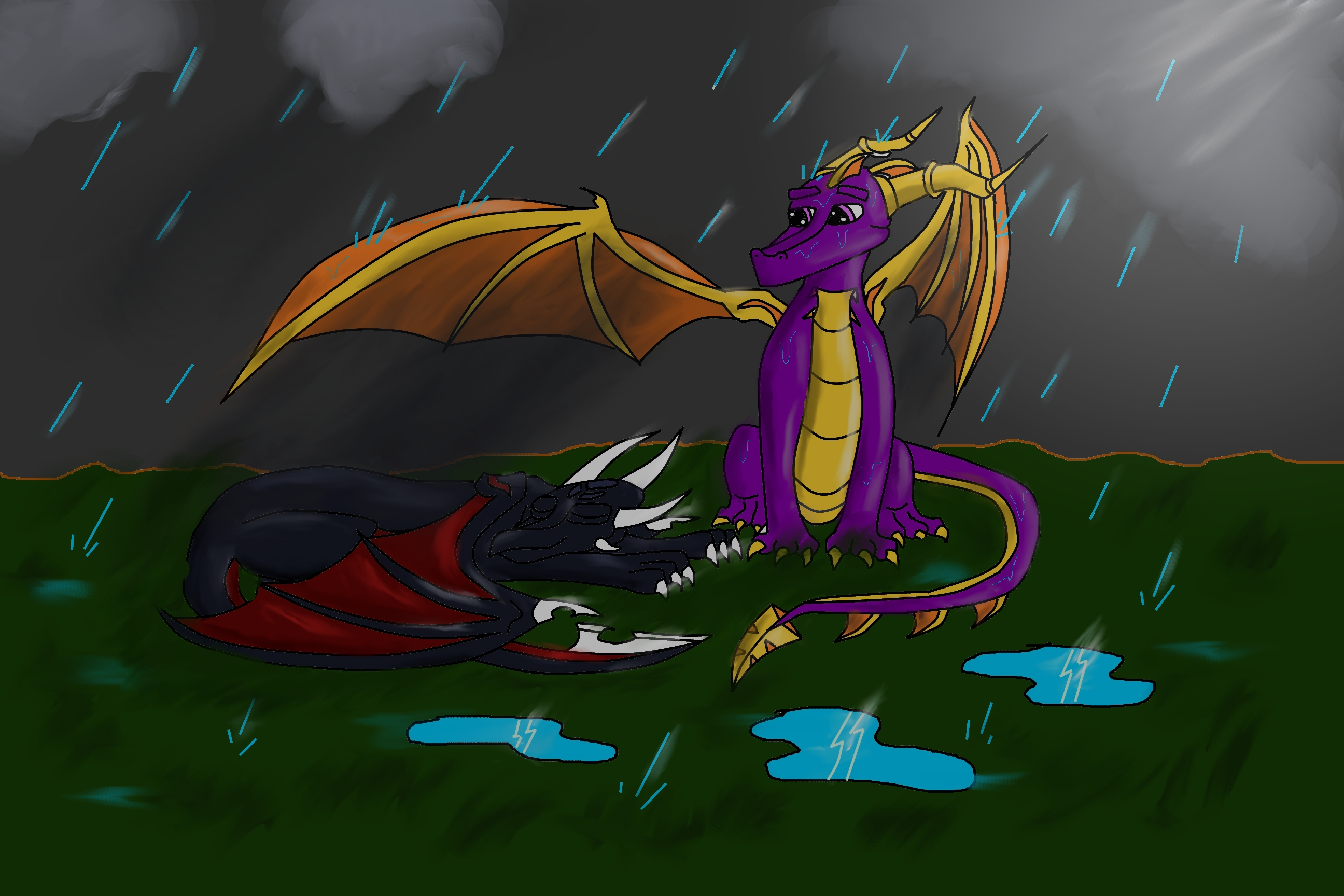 Spyro cover Cynder from heavy rain by WingedWilly on ...