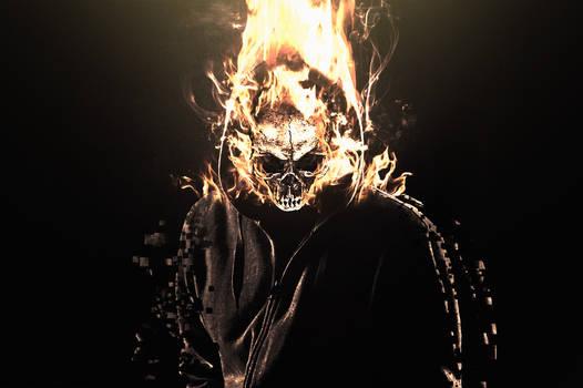 Flaming Skull Manipulation Wallpaper