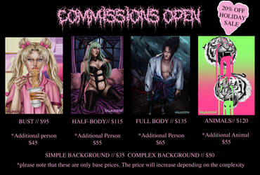 Commissions Open (Holiday Sale)