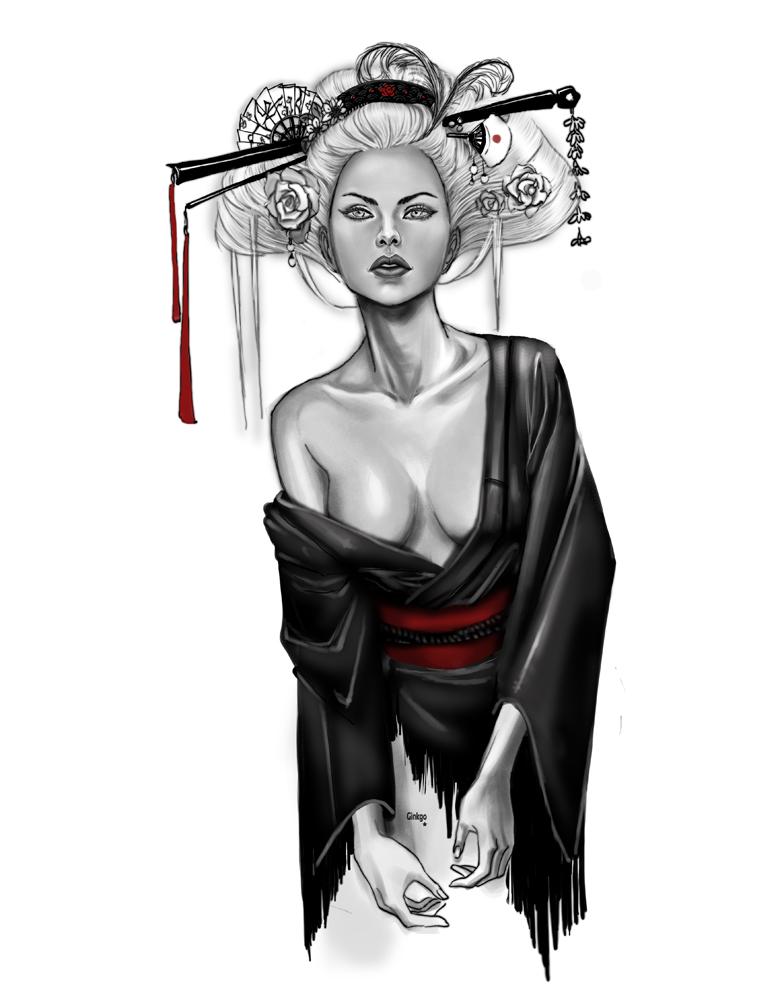Geisha by Little-Ginkgo
