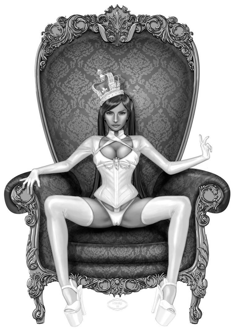 Queen in white by Little-Ginkgo