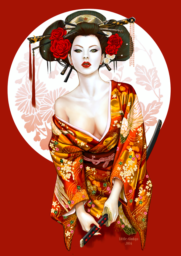new Geisha by Little-Ginkgo