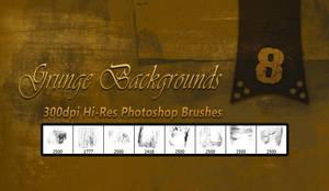 8 Free Hi-Res Grunge Background Brushes