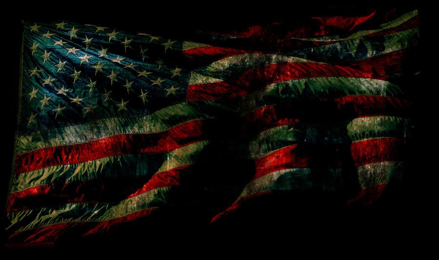 Grunge American Flag Wallpaper by designerfied on DeviantArt