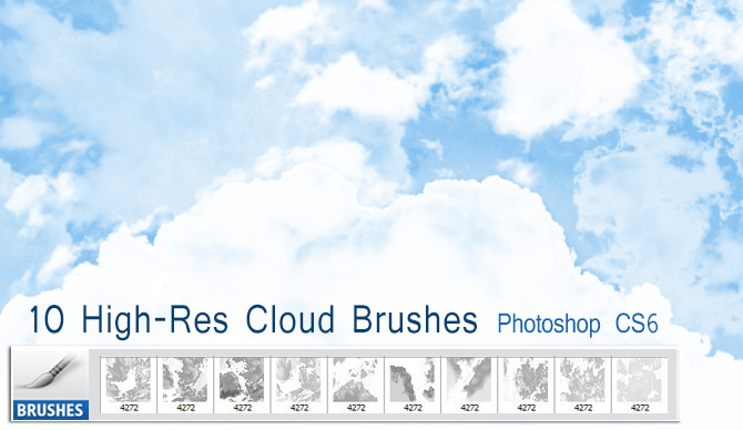 10 Free High-res Cloud Brushes