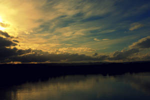 Lower Columbia River Sunset 2 by designerfied