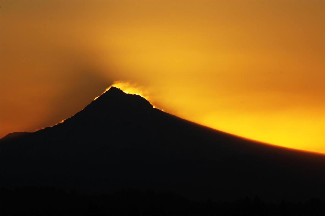 Mount Hood - Snowy Sunrise by designerfied