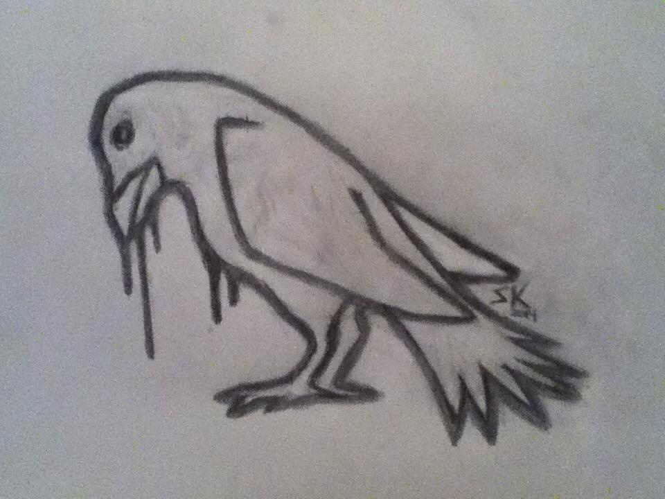 Raven Sketch by Soel-Insanity