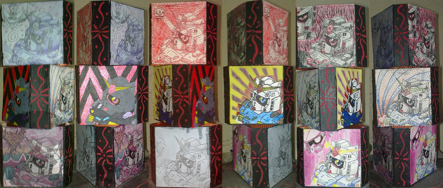 Kitty Captain Gundam Art Project by chaosphoniex