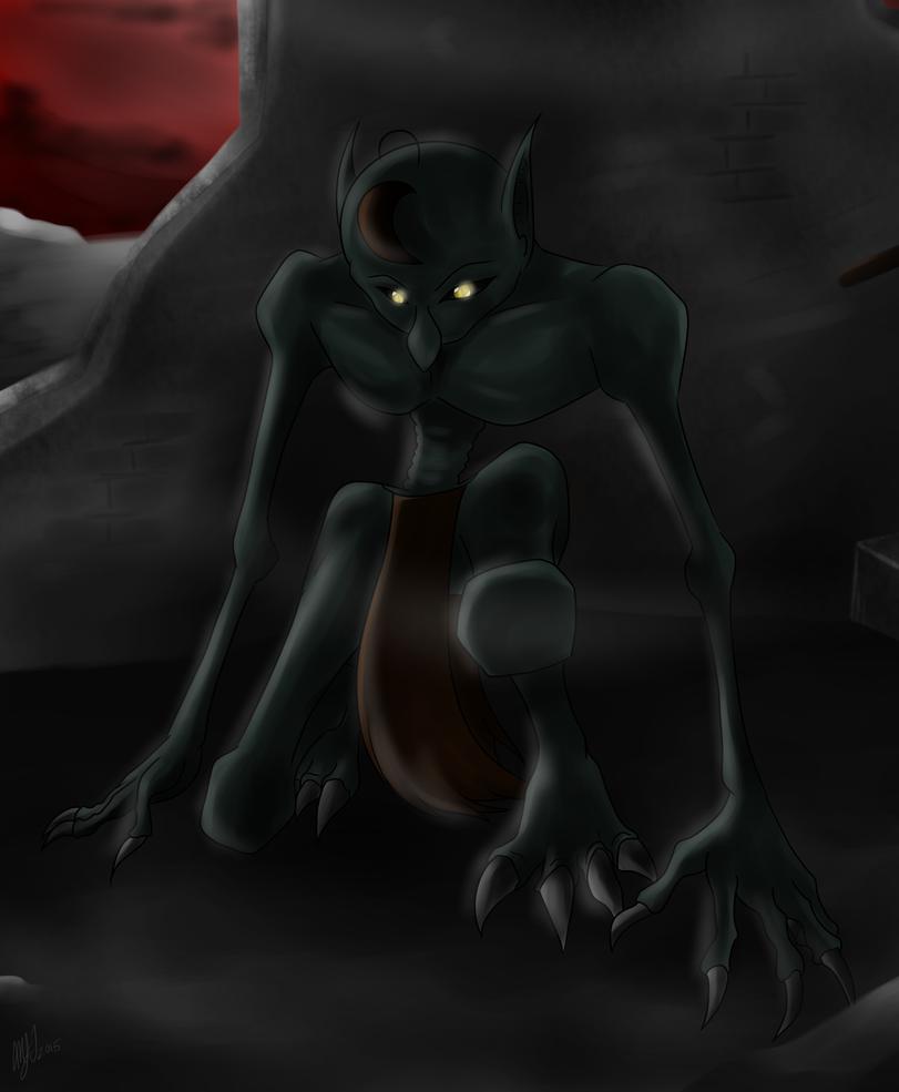 Hiding Behind the Shadows by chaosphoniex